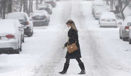 US north-east battles first major snow storm of 2014