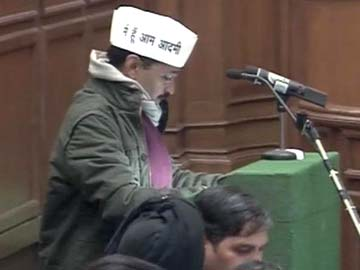 Chief Minister Arvind Kejriwal, newly elected Aam Aadmi Party MLAs take oath in Delhi assembly