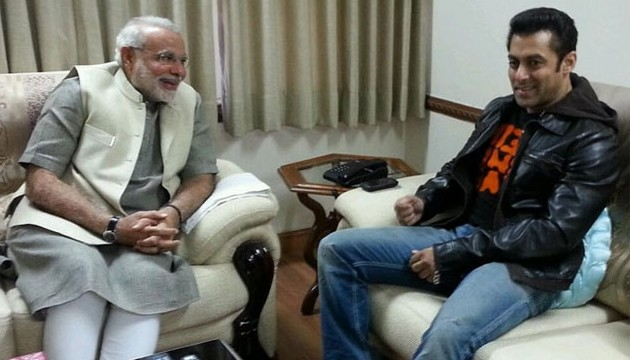 Bollywood actor Salman Khan met Gujarat Chief Minister Narendra Modi in Ahmedabad today.