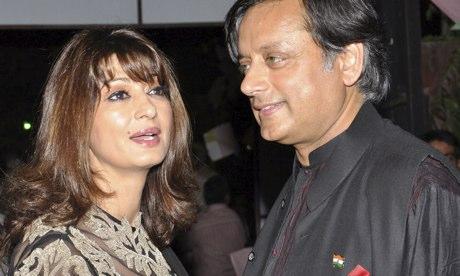 Shashi Tharoor (right) and Sunanda Pushkar in 2012