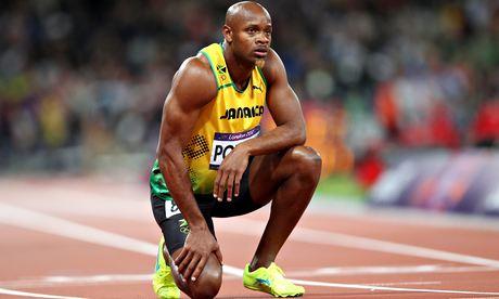Asafa Powell of Jamaica.