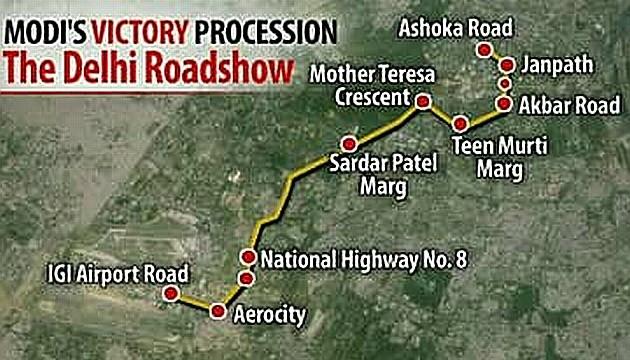 Modi_Delhi_Route