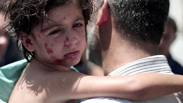 Wounded Palestinian taken to Kamal Adwan hospital