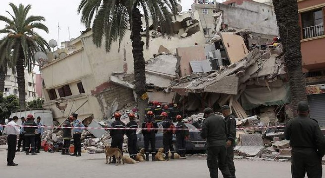 MOROCCO ACCIDENT HOUSE COLLAPSE