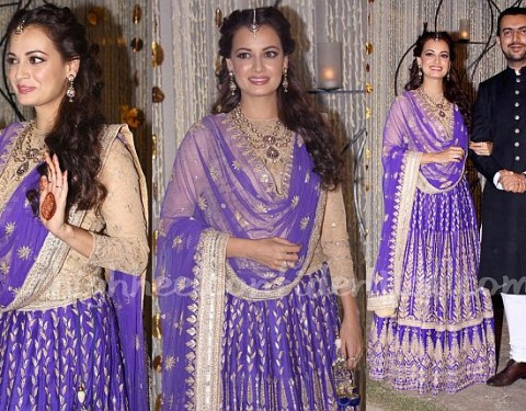 For-Her-Sangeet-Ceremony-Dia-Mirza-Wears-An-Anita-Dongre-Lehenga-2