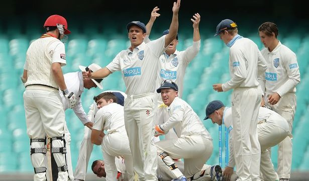 Phillip-Hughes-of-South-Australia-is-helped-by-New-South-Wales-players-after-falling-to-the-ground