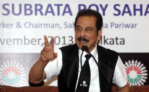 Sahara Group Chairman Subrata Roy speaks during a news conference in Kolkata