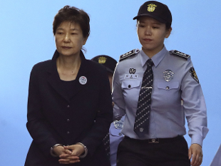 Image result for park geun-hye in handcuffs
